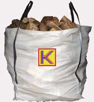 Small picture of a one tonne bag of firewood.